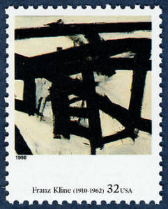 A U.S. stamp featuring this Franz Kline painting.