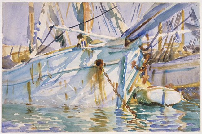 Brooklyn_Museum_-_In_a_Levantine_Port_-_John_Singer_Sargent_-_overall
