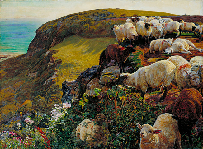 William_Holman_Hunt_-_Our_English_Coasts,_1852_(`Strayed_Sheep')652