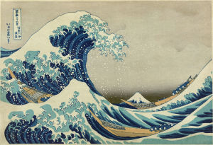 The Great Wave Off Kanagawa;  Hokusai; Source Wikimedia Commons