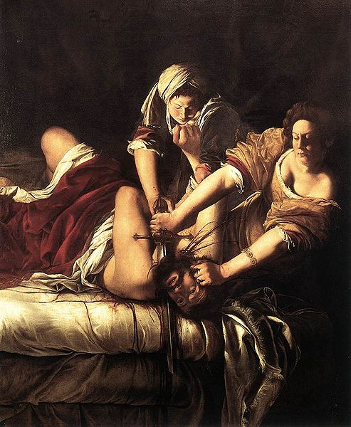 Judith Slaying Holofernes (1614–20) Oil on canvas 199 x 162 cm Galleria degli Uffizi, Florence. Source: Wikimedia Commons