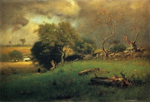 "Another by Inness: ""The Storm."" Source: Wikimedia Commons"