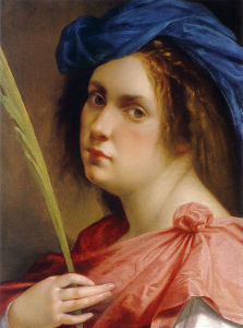 Artemisia Genileschi, Self-portrait as a Female Martyr, 1612. Source: Wikimedia Commons