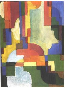 Colourfull shapes I. 1913. Source: Wikimedia Commons - Click to Enlarge